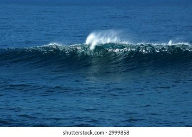 Big wave breaking in open ocean