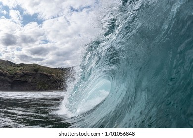Big Wave at Piha beach, Auckland NZ, a powerful wave at one of NZ's most iconic surf beaches