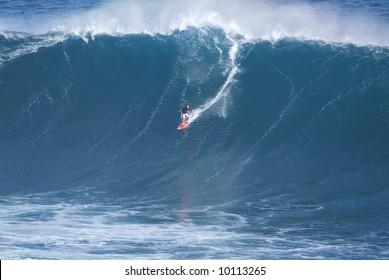 Big Wave Surfing at Jaws Maui Hawaii