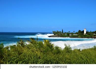 Big Waves  at Waimea Bay, Oahu, Hawaii, USA
