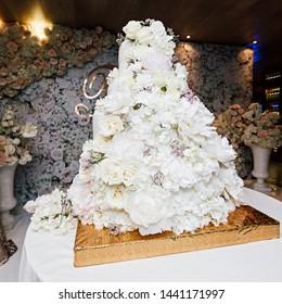Big Wedding cake with flowers