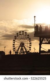 Big wheel at sunset - Skegness