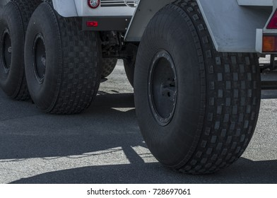big wheels, the big car with a tread pattern stand without the movement