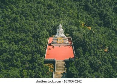 Big White Buddha, Wat Phra That Mae Yen in Pai, Mae Hong Son, Chiang Mai, thailand