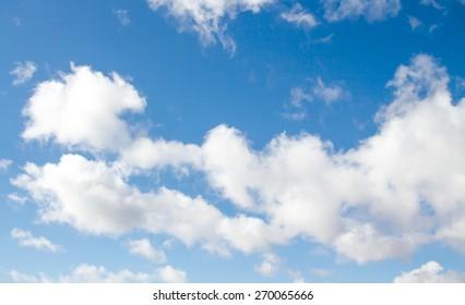 Big white cloud and blue-sky