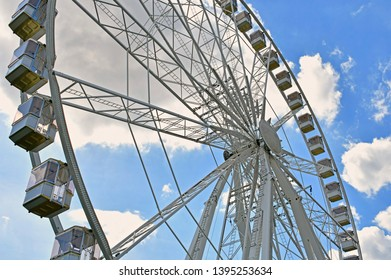 big white ferris wheel in budapest