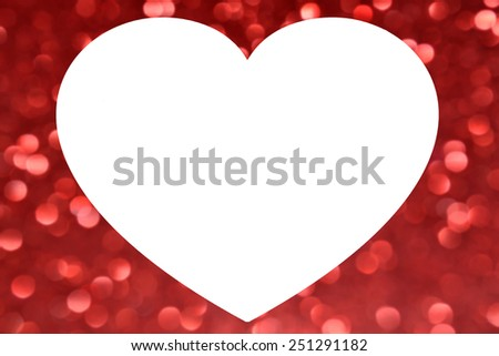 Big White Heart Frame Over Blurred Stock Photo (Edit Now) 251291182 ...