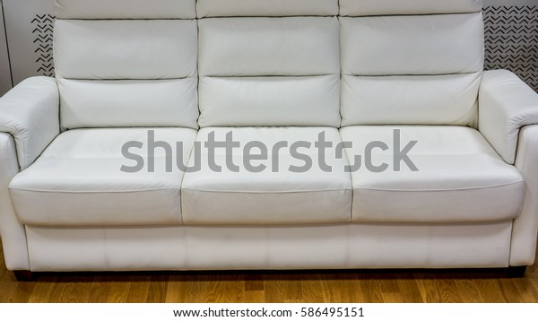 Wondrous Big White Lather Soft Sofa Divided Stock Photo Edit Now Pdpeps Interior Chair Design Pdpepsorg