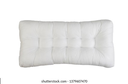 big white pillow isolated on white background