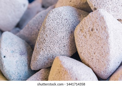big white stones or rocks close up