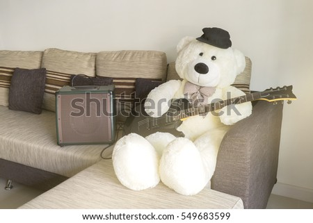 big white teddy bear
