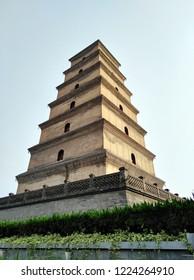 Big Wild Goose pagoda in Xian, Shaanxi province, China