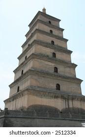 big wild goose pagoda xian china