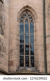 Big window of an old historical building