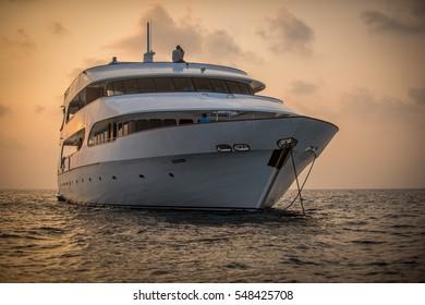 Big yacht on the ocean