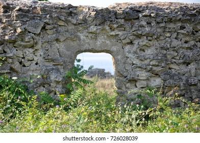 Bigali Kalesi - a ruined castle in Turkey