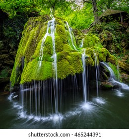 Bigar water fall, Romania, formed by an underground water spring witch spectacular falls into the Minis River