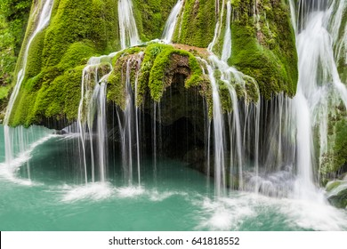 Bigar waterfall in Romania - one of the most beautiful waterfalls in the country. Discover Romania concept.