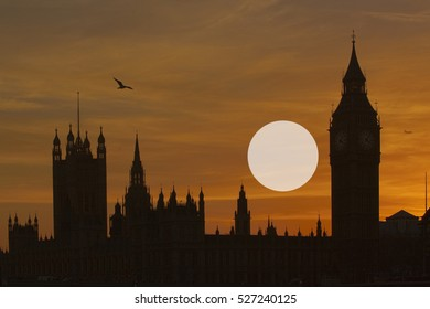 Bigben and The Houses of Parliament Westminster London