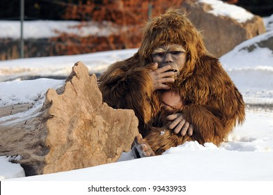 Bigfoot puppet, Granby zoo, Quebec, Canada
