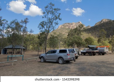 Biggenden, Queensland/Australia- August, 13, 2019. Mount Walsh National Park picnic area near The Summit Walk to Mount Walsh in Queensland, Australia. Mount Walsh can be seen in the Background.