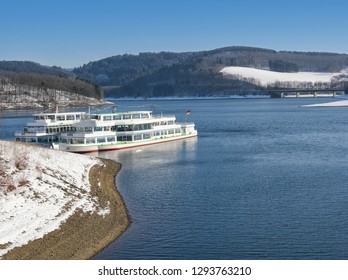 at Biggesee Reservoir in Sauerland,North Rhine westphalia,Germany