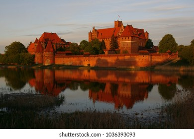 The biggest brick gothic fortress in the world, castle of the teutonic order (Malbork, Poland, former Prussia). UNESCO world heritage site
