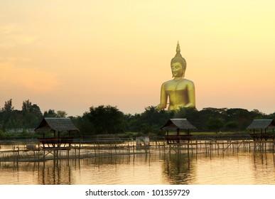 Biggest buddha statue at wat muaeng, Thailand