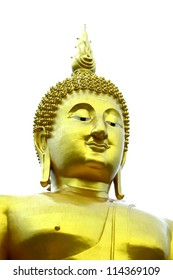 Biggest Buddha statue at wat muaeng, angthong Province, Thailand.