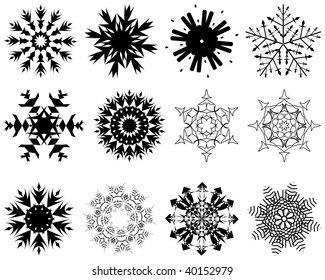 Biggest collection of  snowflakes in different shape