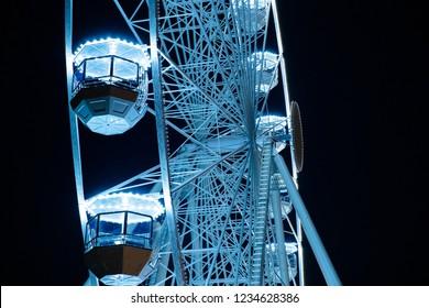 Biggest Ferris wheel in Brno, Czech Republic in Moravske square
