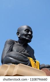 The biggest statue of Luang Pu Thuat at Wat Huai Mongkhon, Hua Hin, Prachuap Khiri Khan, south of Thailand, calls Luang Pu Thuat.