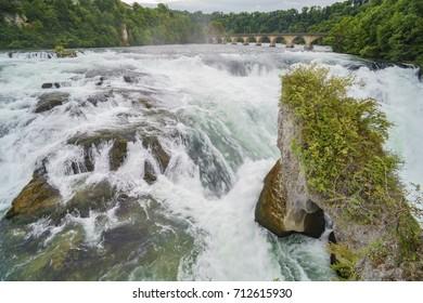 The biggest waterfall - Rhine Falls at Europe, Zurich, Switzerland