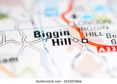 Biggin Hill. United Kingdom on a geography map