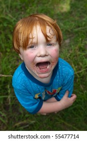 Big-Mouth Messy Kid