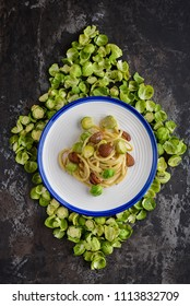 Bigoli with brussel sprouts and chestnuts