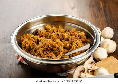 Bigos - dish of cabbage, meat, mushrooms, sausages - Polish cuisine