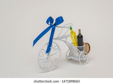 Bike Bicycle wheel wine gift souvenir