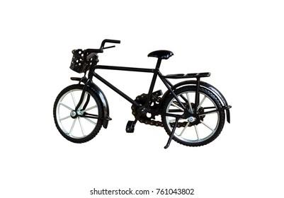 Bike black toy isolated on white background