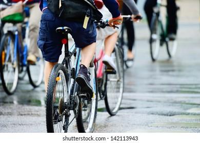 Велосипедная толпа