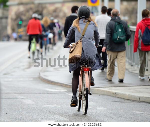 Bike crowd
