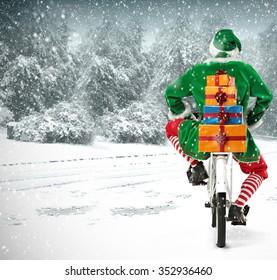 bike and elf