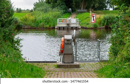 bike ferry over the dyke in norden, germany