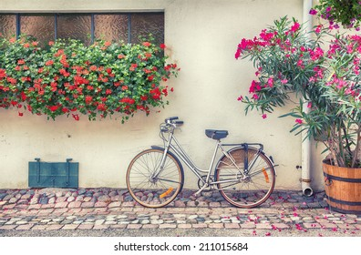 bike in France town