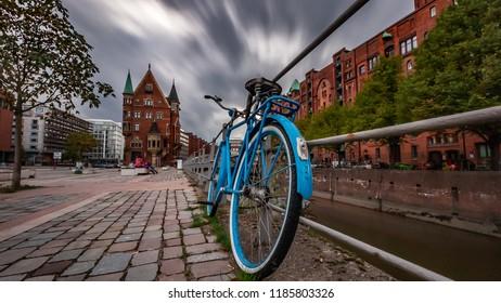 bike in hamburg, speicherstadt