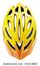 Bike helmet Cycling helmet isolated on white with clipping path.