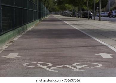Bike lane in Castellon, Spain.