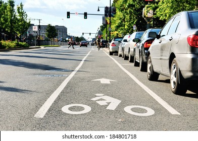 Bike lane in city street