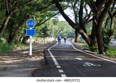 Bike lane for cycling