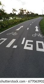 Bike lane and distance numbers